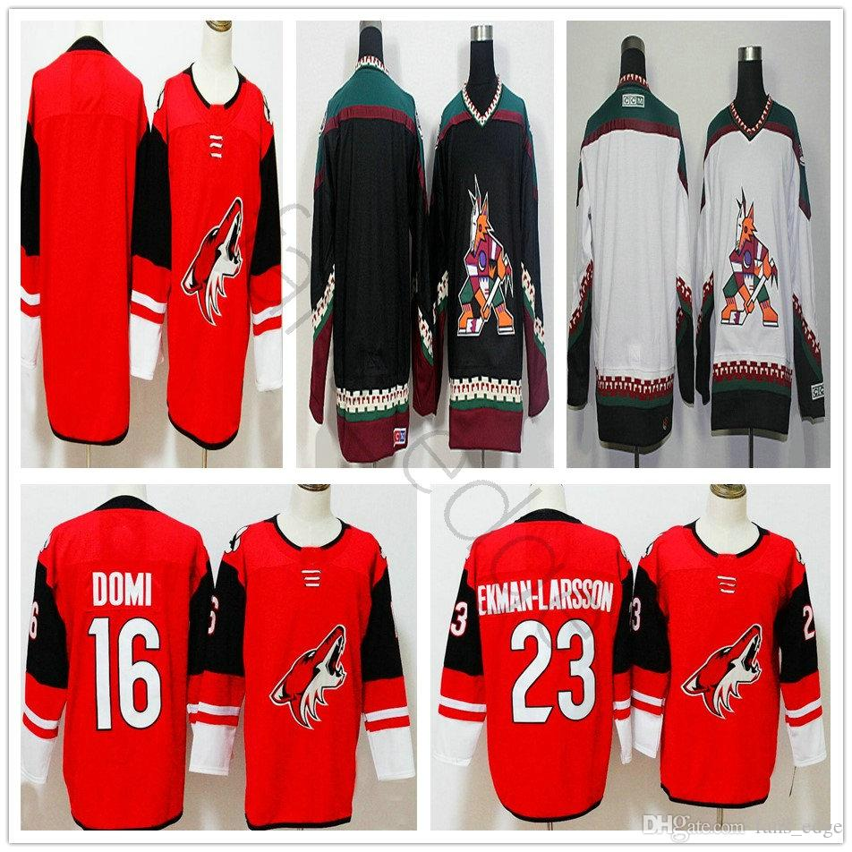 Wholesale 2018 New Style Ad Arizona Coyotes Hockey Jerseys 16 Max Domi Home  Red 23 Oliver Ekman Larsson Blank Throwback Jersey By Fans_edge Under  $20.12 ...