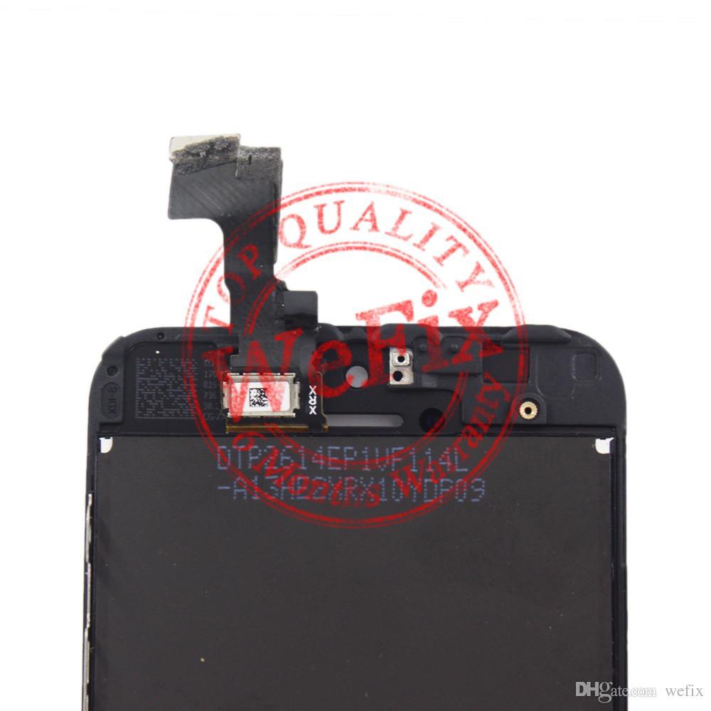 display lcd para iphone 5 5s 5c digitador da tela de toque de montagem completa substituição de peças de reparo para a ordem da amostra frete grátis via ePacket