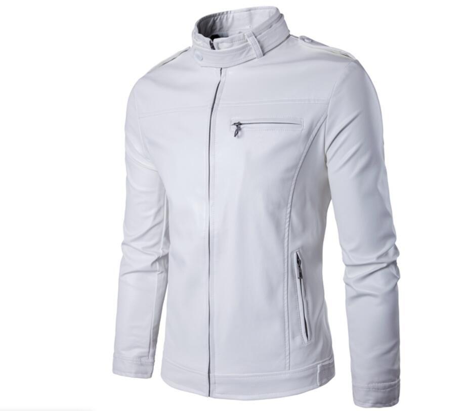 5eecba3d8ed 2019 White Pu Leather Jacket Men 2019 Winter Motorcycle Jacket Design Mens  Slim Fit Biker Jacket Stylish Veste Cuir Homme From Zyc5788