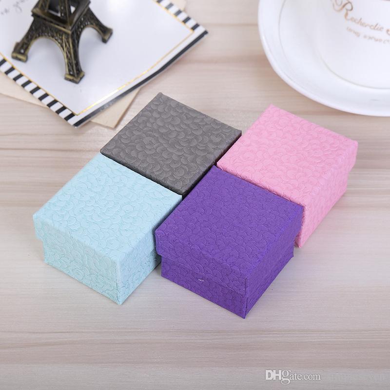 [Simple Seven] 9 * 9 * 5.5cm Papier spécial Affichage de bijoux / Mode Pedant Box / Package Collier / Tendance Bracelet Emballage / Bijoux Broche Cas