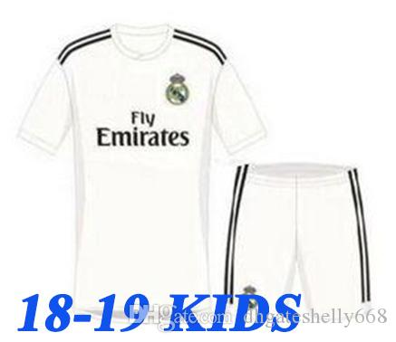 3ddfdfc257b 18/19 Camisetas De Futbol Kids Cristiano Ronaldo Jerseys Realmadrid ...