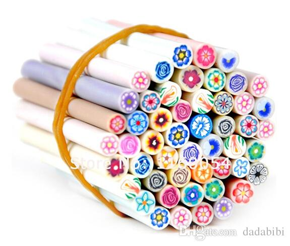 NEW ARRIVAL Fimo Nail Stickers Fimo Canes Fruit 3D Nail Art Decoration Polymer Clay Animal Flower Fimo Rods For Nail DIY Design