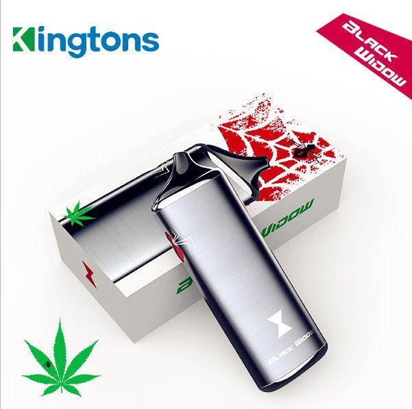 Kingtons Black Widow Dry Herb Vaporizer Smoke Vape Kit 3 in 1 Herbal Vaporizer e cig Vape Pen in Stock