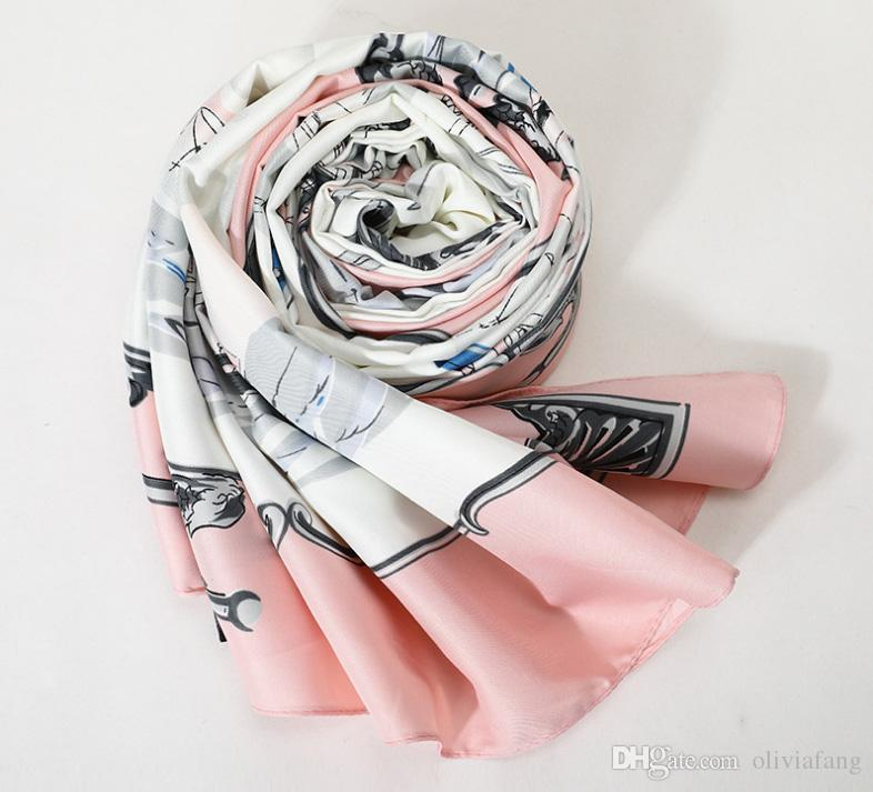 98685288f 2019 Foulard Femme 130x130cm Grandes écharpes carrées Taille Haute  Imitation Foulard en soie et châles enveloppes Hijabs Echarpe Luxueux Wrap  ...