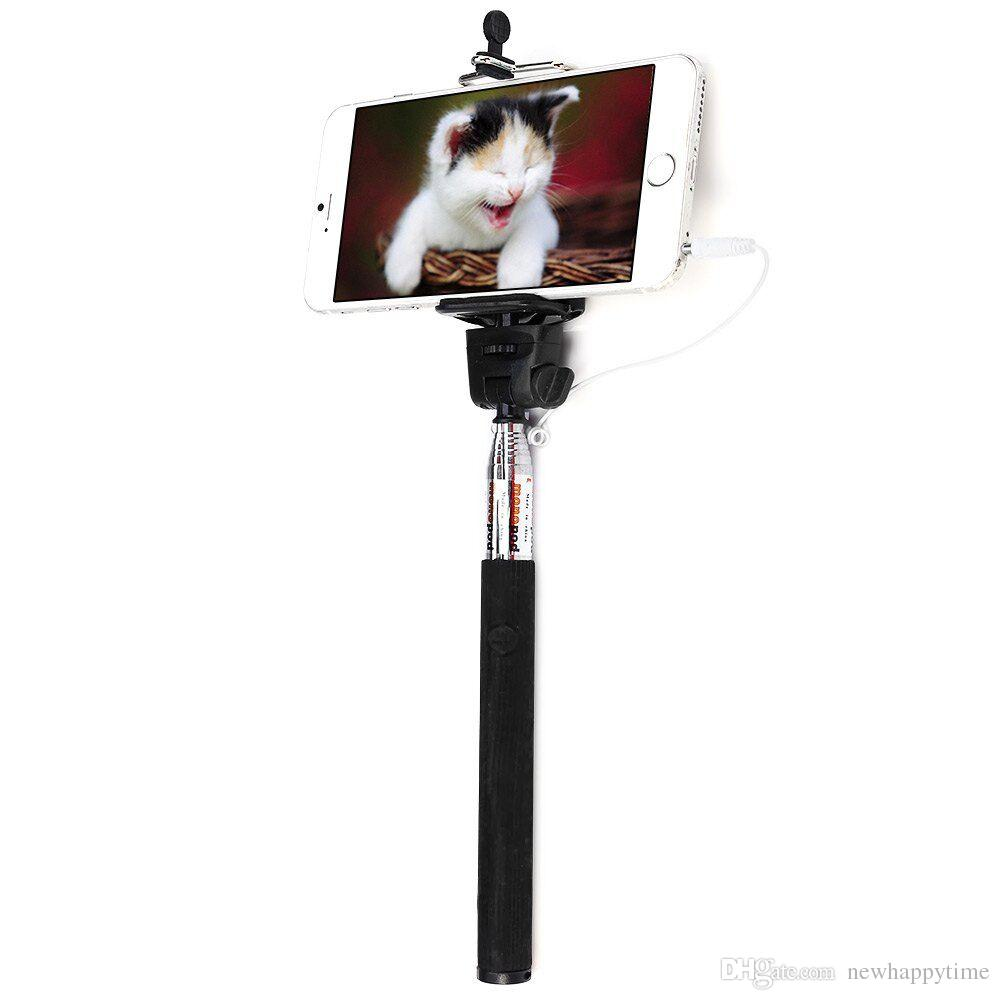 Z07 5s 35mm Usb Cable Connection Extendable Self Portrait Selfie 3 Wiring Handhold Stick Monopod With Adjustable Holder Android System