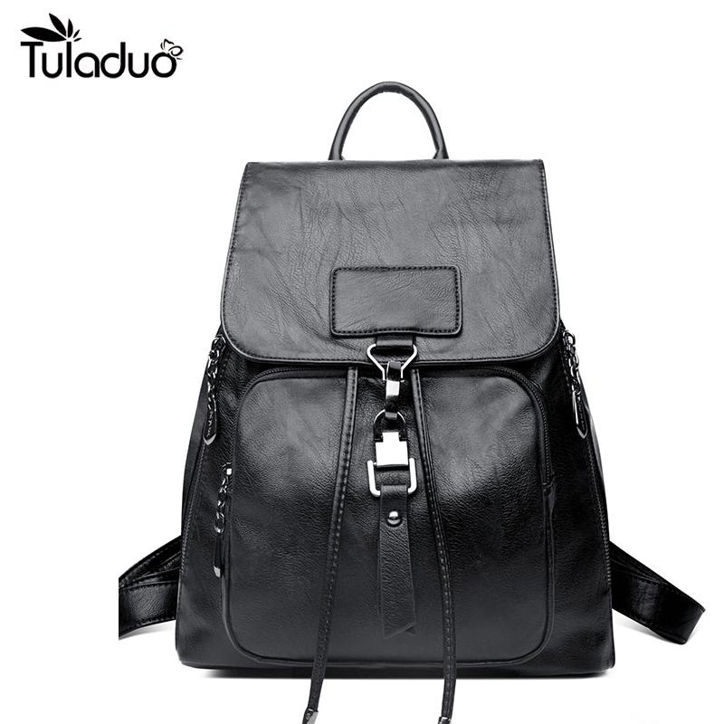 e079892820 2018 New PU Leather Small Backpack Fashion Girls Backbag School Bags For  Classic Style Backpacks For Girls Waterproof Backpack From Leegarden