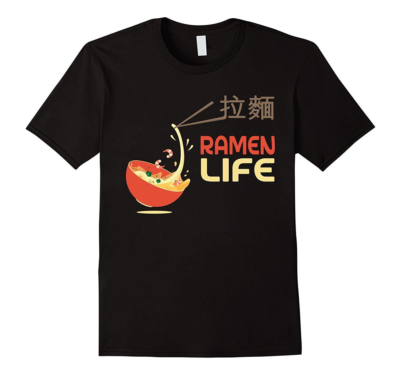 d25fc48b7db49 Cute Ramen Life T Shirt Japanese Food Tee Short Sleeve Fashion Summer  Printing Casual T Shirt Casual Men Clothing Top