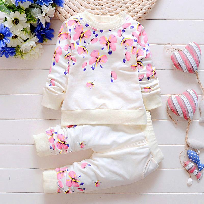 488be39444f8 2019 Baby Girl Clothing Sets Fashion Long Sleeve Print Flower Toddler  Tshirt + Pants 1 2 3 4 Years Kids Girls Wear From Moongate