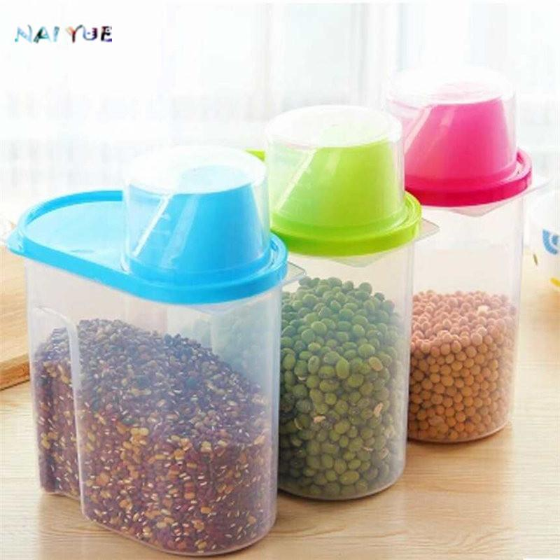 2018 Nai Yue Useful 1 9l Plastic Kitchen Food Storage Boxes Cereal