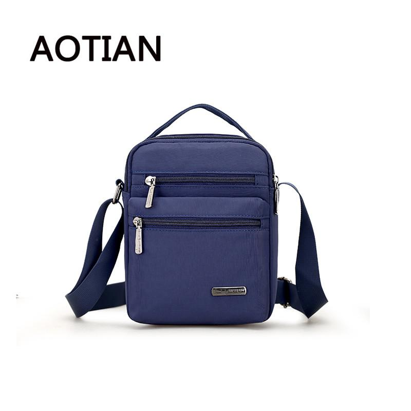2d76777a2f Aotian Men Waterproof Nylon Shoulder Bag Messenger Bags Design High Quality  Crossbody Bag Casual Handbag Double Zipper Leather Satchel Ladies Bags From  ...