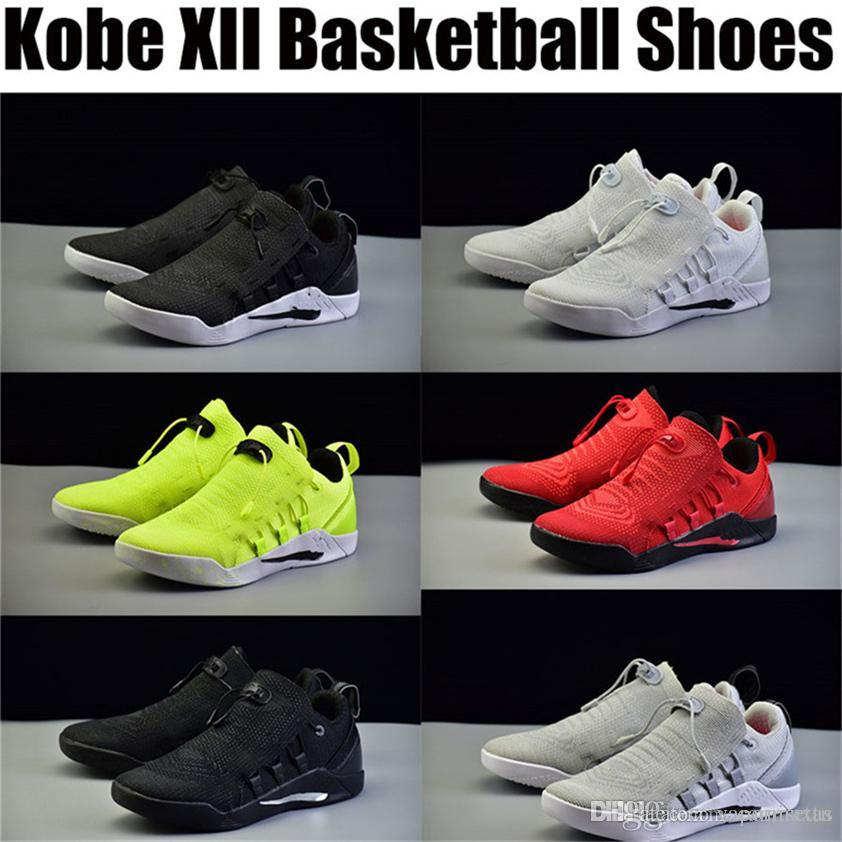 f927dc55c03e Cheap Kobe 12 Bryant XII Purple Shoes Basketball Slippers Trainers Men s Dark  Jerseys Low Outdoors Indoors Summer Exercise Original
