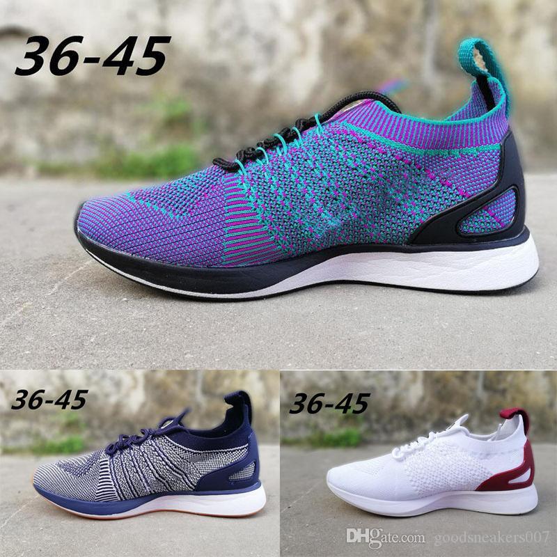 huge inventory 536da c3ffb Satın Al Nike Flyknit Air Sıcak Satış Fly Racer Eğitmen Örgü Oreo Siyah  Beyaz Gri Spor Ayakkabı Ay Free Run Koşu Ayakkabıları Erkek Kadın Yaz  Sneakers ...