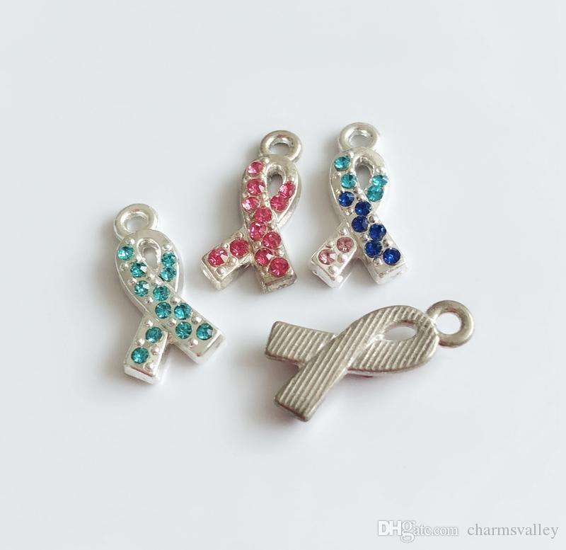 10 pz stile misto papillon cancro al seno marcatore tag diapositive fascini lettere scorrevole appendere pendenti accessori fai da te cinture, bracciali, collane