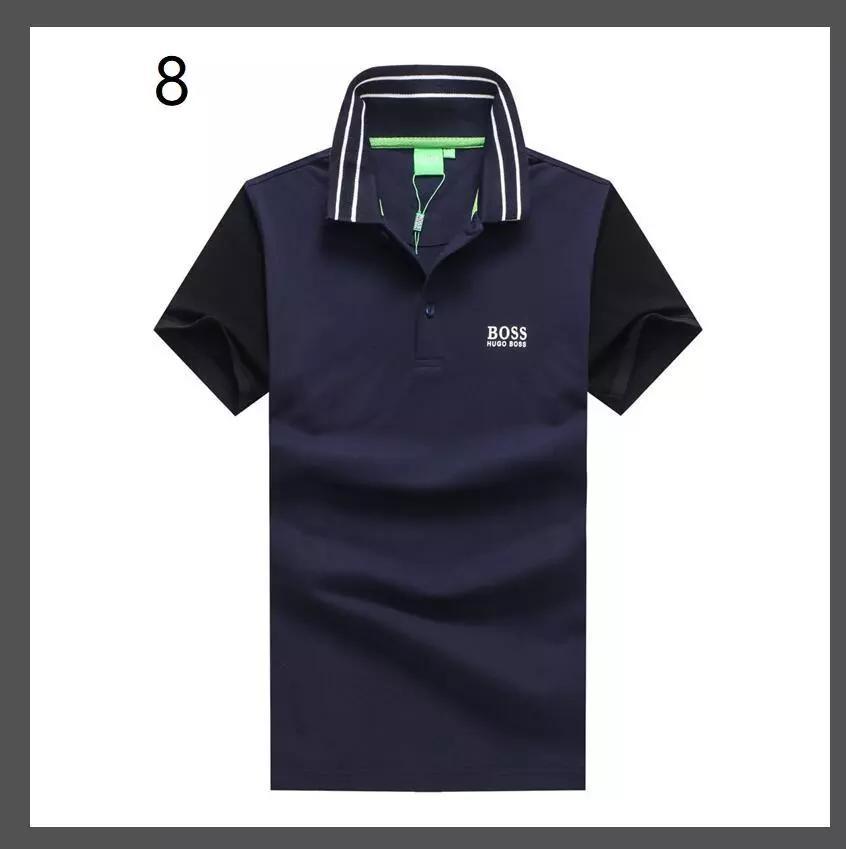 1c9eca291 2018 New Summer Men Boss Short-sleeved T Shirt Blood V Neck Half ...