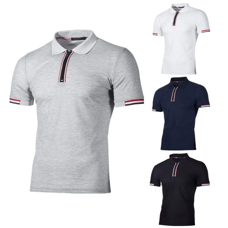 Acquista T Shirt Manica Corta Da Uomo A Maniche Corte Con Zip 2018 Nuovo  Stile Estivo A  25.13 Dal Daydayma  404c6481492