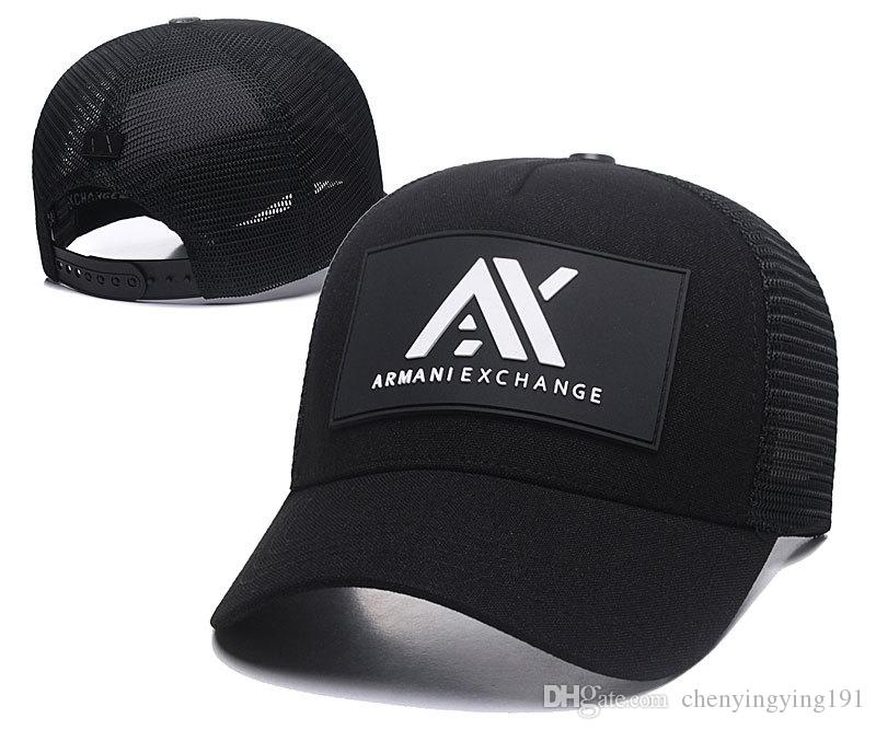 49ac58bfe83f8 AX Baseball Cap Logo Design Baseball Hat Casquette Luxe Dad Caps Fitted Hats  Cool Snapback Hats