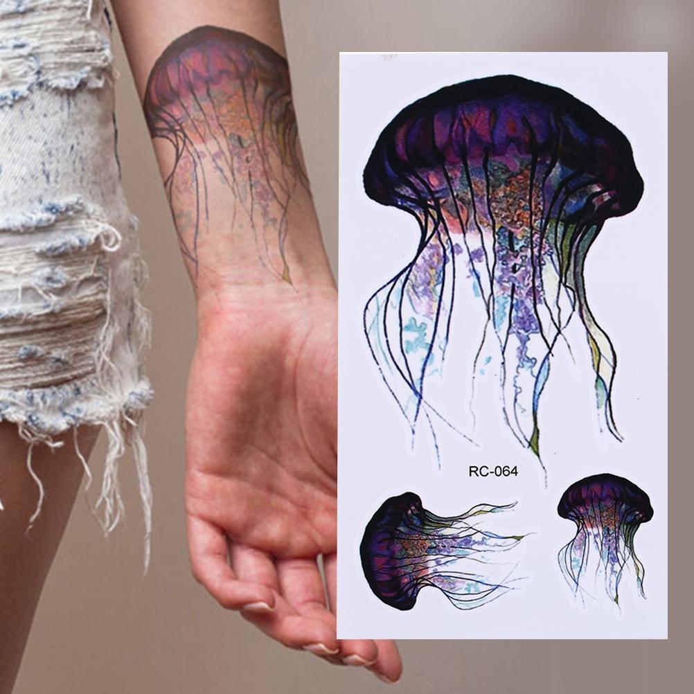 Serie Mar Pequeños Pegatinas De Tatuaje Temporal Body Art Medusas