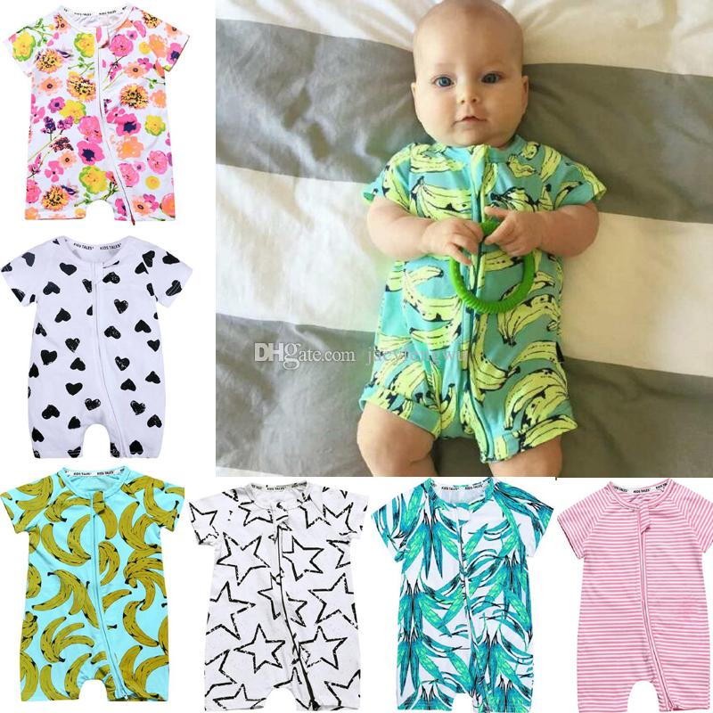 80de32454 2019 Newborn Baby Clothing Baby Girls Boys Clothes Zipper Romper ...
