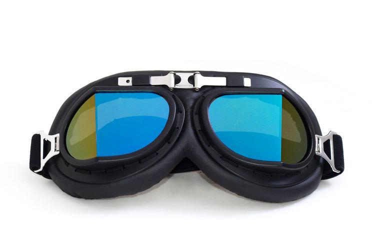 ddc819225b Retro Motorcycle Goggles Glasses Vintage Aviator Pilot Cruiser ATV ...