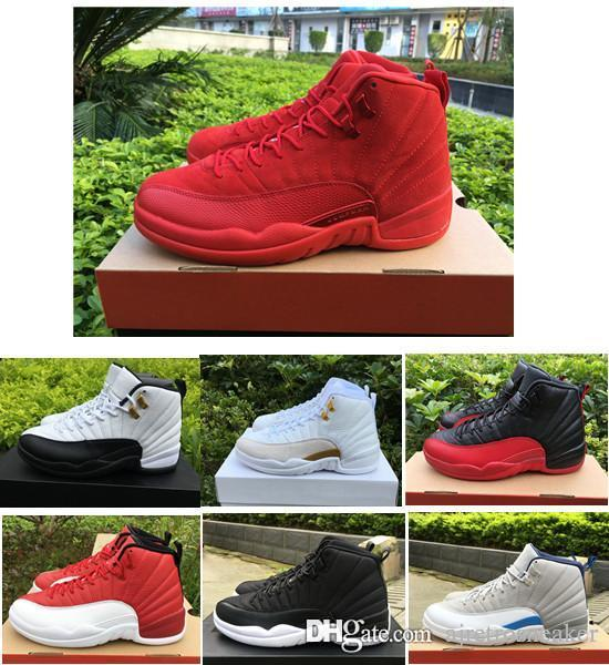 07643b2e9227 New Cheap 12s 12 Ovo White Flu Game Wolf Grey Gym Red Taxi Gamma French  Blue Suede Men Basketball Shoes Perfect Sneakers Mens Sneakers Mens  Basketball Shoes ...