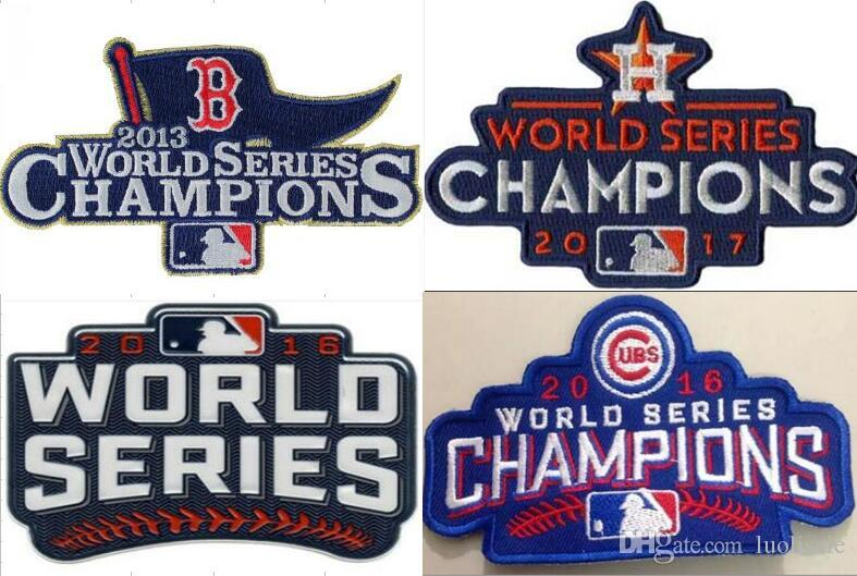 2013 2014 2015 2016 2017 Giants Red Sox Royals cubs Houston world series  champions patch badge sewn on