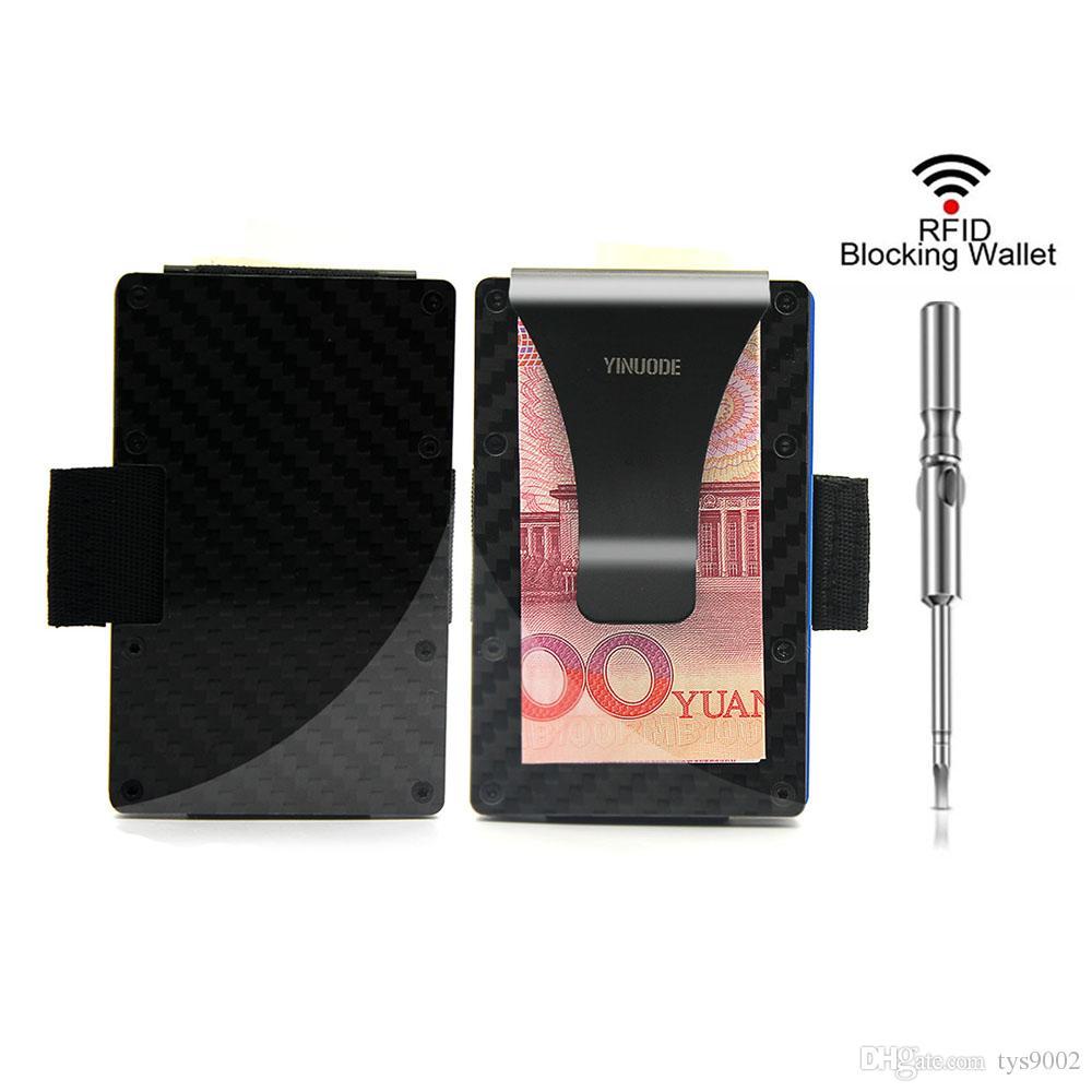 69f4bba8bd7b65 Carbon Fiber Credit Card Holder ,2018 New Pulling Straps Version RFID  Blocking Anti Scan Metal Wallet Money Cash Clip Busines Card Holder  Bussiness Card ...