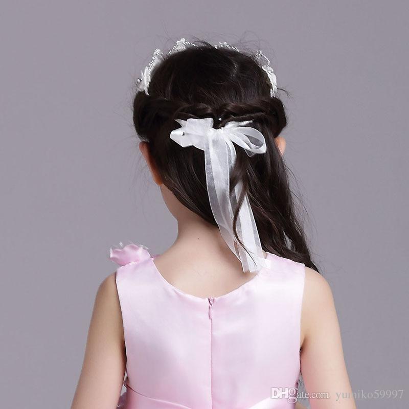 Nuevo adorno para el cabello para niños head hoop girl headwear performance hair ornament child wedding headwear tres colores