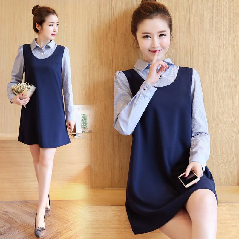 3ea5f095f61 Pengpious autumn pregnant women turn-down collar shirts long sleeve office  lady formal blouses work clothes maternity dress cute