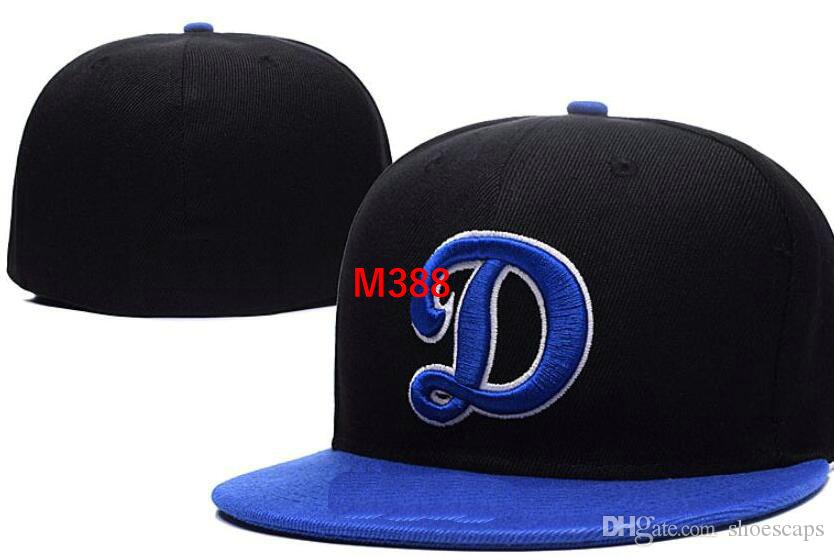 474c1247107 2019 Dodgers Team Fitted Hats Baseball Embroidered Team Letter Flat Brim  Hats Baseball Size Caps Brands Sports Chapeu For Men And Women From  Shoescaps