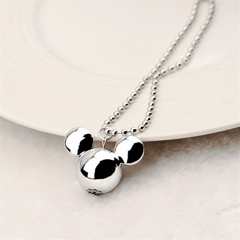 Collar de Mickey de lujo Mujer Salvaje Sección Larga De Accesorios Decorativos Corta Joyería Fina Cadena de Clavícula Suéter Cadena