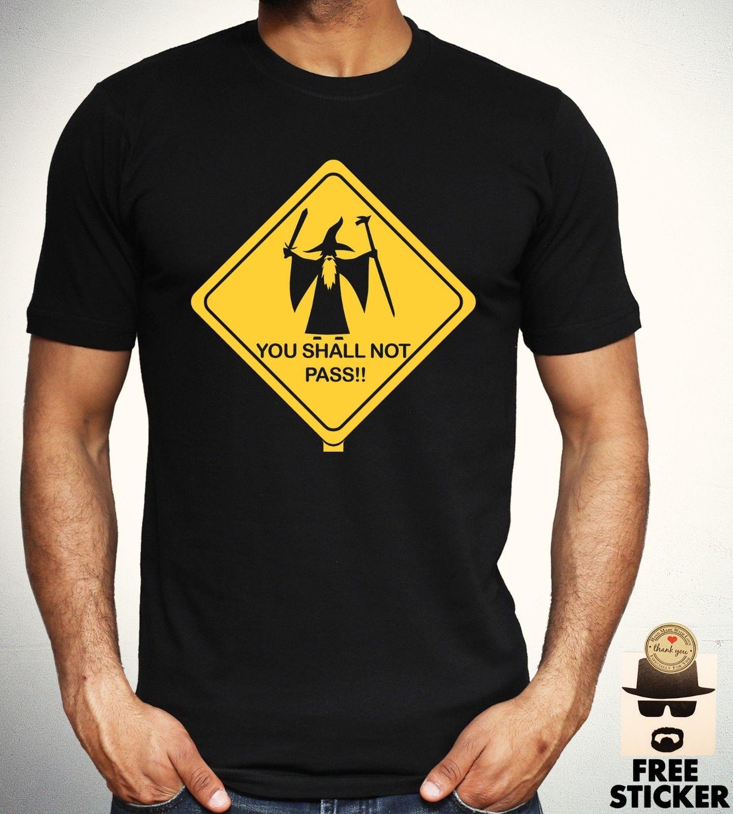 ac21122f23e0bc Großhandel Herr Der Ringe T Shirt Lustige Parodie Sie Nicht Zeichen Zeichen  Hobbit Top Mens Baumwolle Männer T Shirts Klassische Top T Grundlegende  Modelle ...
