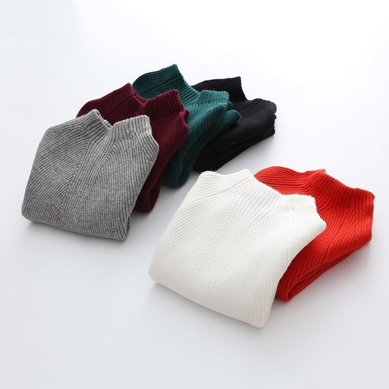 Boys Girls Turtleneck Sweater Baby Kids Boys Solid Sweaters Soft