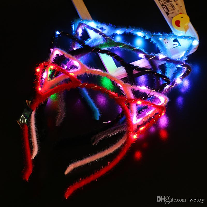 Glow In The Dark Christmas Reindeer,Snowflake Stick Glow Headband Light Up Party
