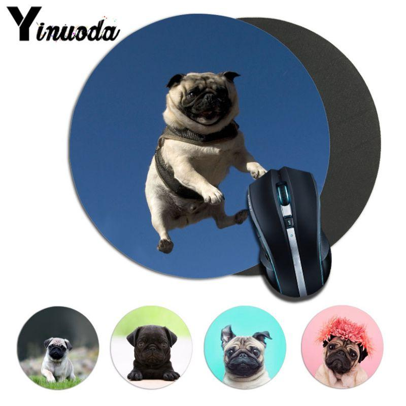 Yinuoda High Quality pug Computer Gaming Lockedge Mousemats Size for 200*200*2mm and 220*220*2mm round mousepad Game Mousepad