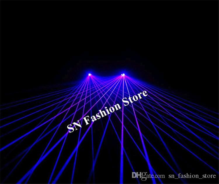 GP04 Blue laser light glasses dj party stage show wears laser man projector club bar performance disco ballroom dance purple light costumes