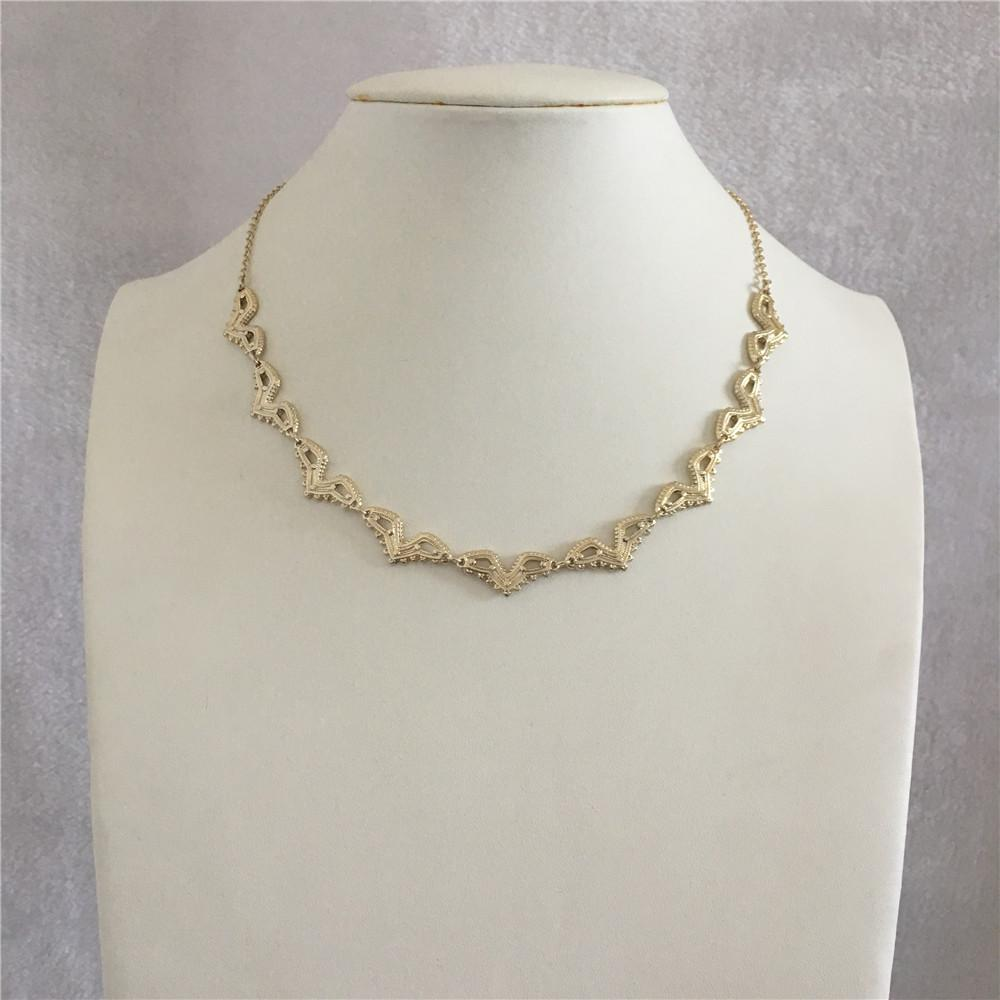 CASUAL LIGHT GOLD ANTIQUE RHODIUM SHORT NECKLACE FOR WOMAN GIRL