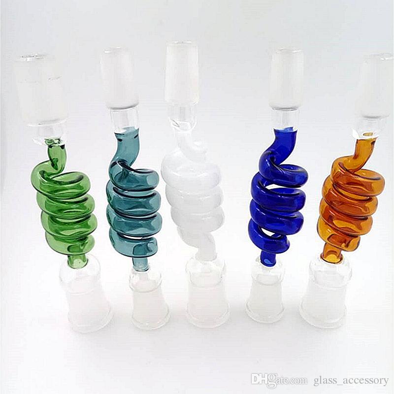 Neue Glas Shisha Zubehör Farbe Schraube Adapter Glas Bongs Ölbrenner Glas Wasserpfeifen Rauchrohr Zubehör
