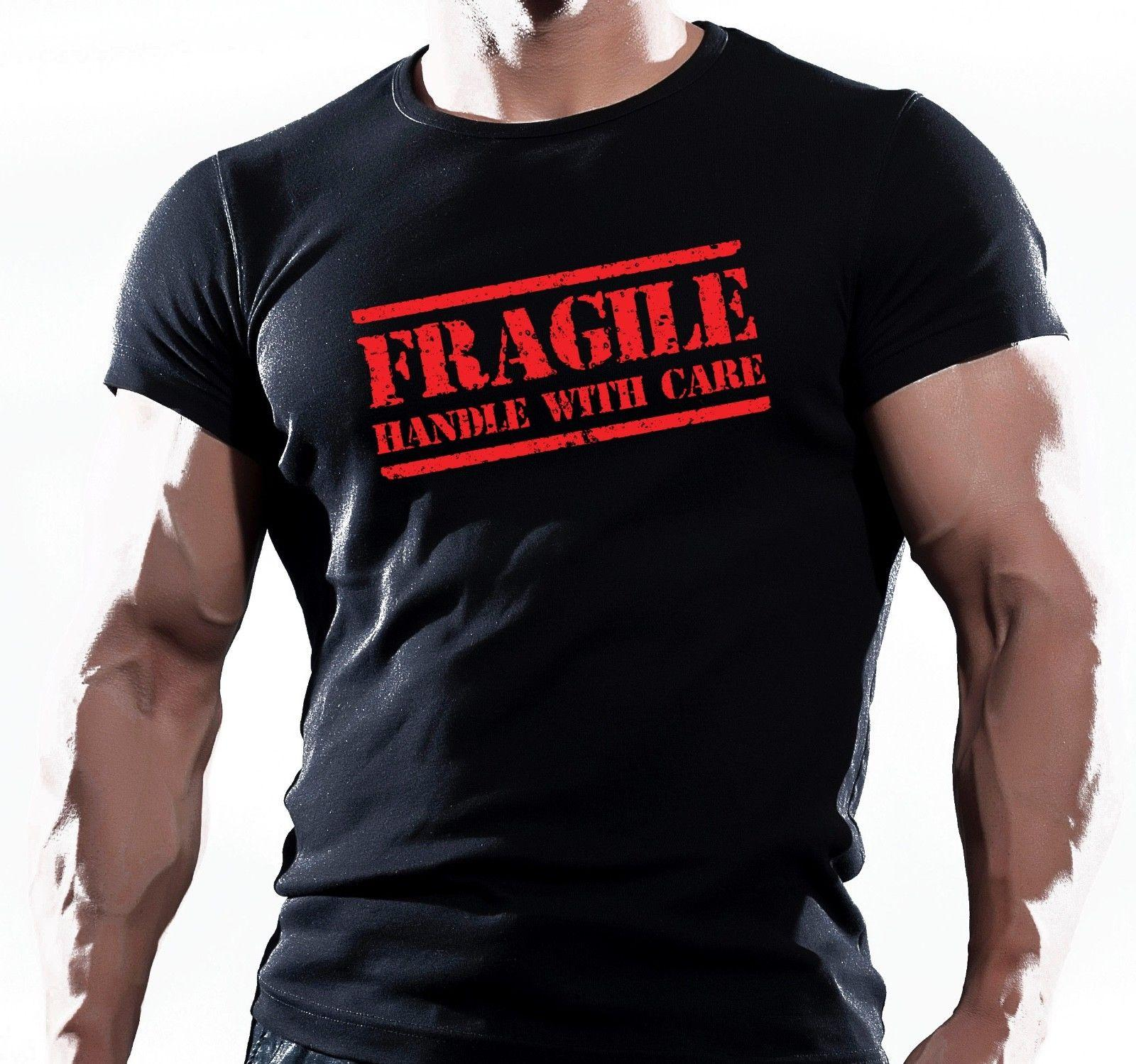 1b2761fbd05 FRAGILE MENS MMA T SHIRT GYM BODYBUILDING MOTIVATION TRAINING FIGHTING WORKOUT  T Shirts In A Day Awesome Tee Shirt Designs From Valuebuy