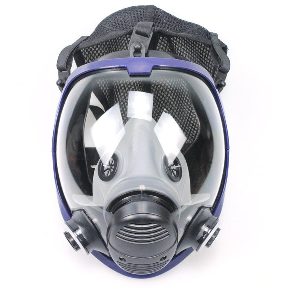 Compre TSAI Rosto Cheio Ao Ar Livre Máscara De Ciclismo Máscara De Gás  Respirador Anti Pó De Segurança Química Com Filtro De Algodão Para Pintura  Da ... d2a592064a