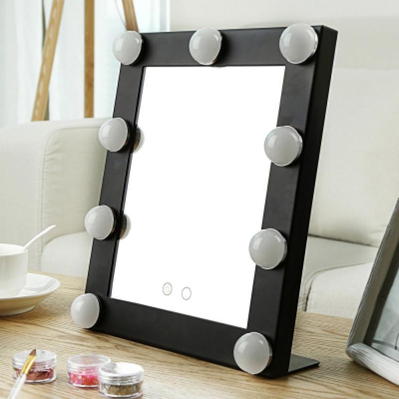 Stainless Steel Framed Mirror Fashion Women Ladies Make Up Mirror ...