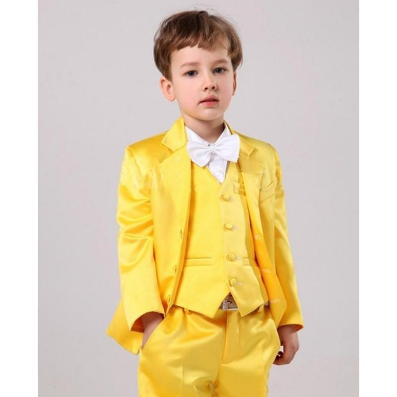 2018 Yellow Set Boys Suits For Wedding Prom Boy Suits Formal Wedding ...