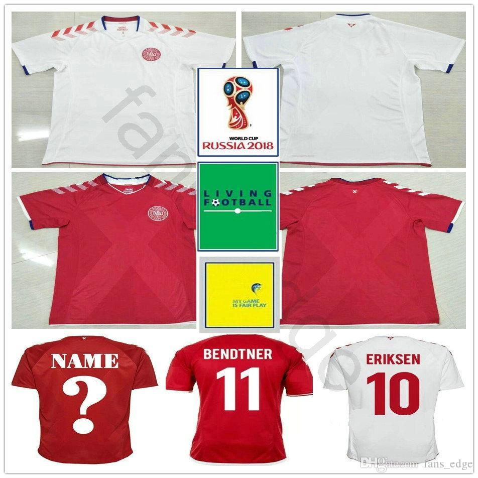 906985da2e6 2019 2018 World Cup Denmark Soccer Jersey 10 ERIKSEN AGGER BENDTNER  TOMASSON DELANEY JORGENSEN SCHONE MIKKELSEN Custom Red White Football Shirt  From ...