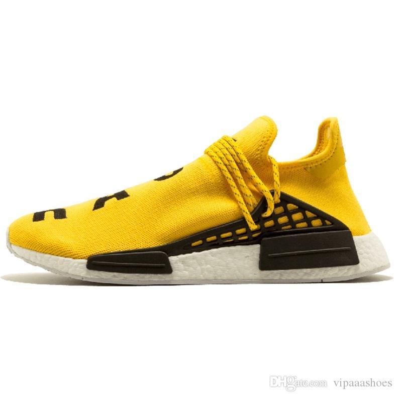 4d9764a52c98e Compre PW Adidas Originals Hu NMD Boost Yeezy Corrida Humana Tênis De  Corrida Pharrell Williams Igualdade Creme Holi Núcleo Lona Em Branco Sol  Brilho ...