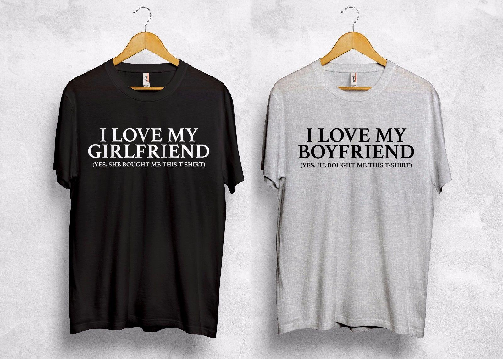 26eaeaa34 I Love My Girlfiend Boyfriend T Shirt Valentines Gift Couple Matching Funny  Joke Make T Shirts Online Tees Design From Vectorbomb, $11.01| DHgate.Com