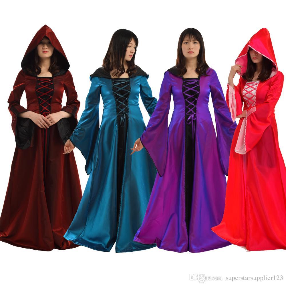 Women Vintage Medieval Dress Luxury Victorian Renaissance Cosplay ...