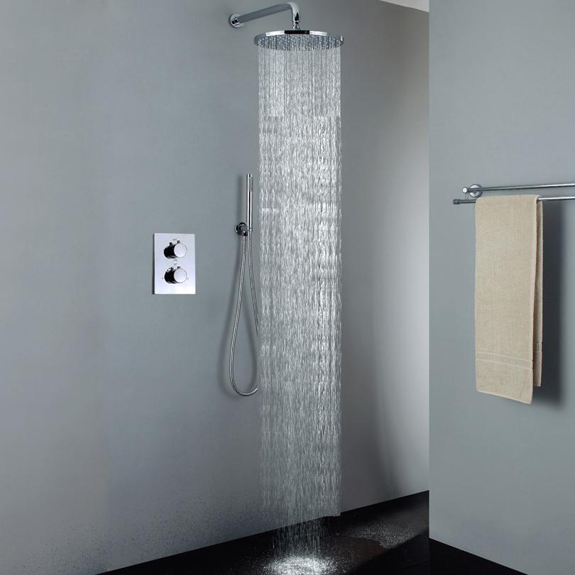 Großhandel Thermostat Badezimmer Dusche Set Chrom Badezimmer Regen ...