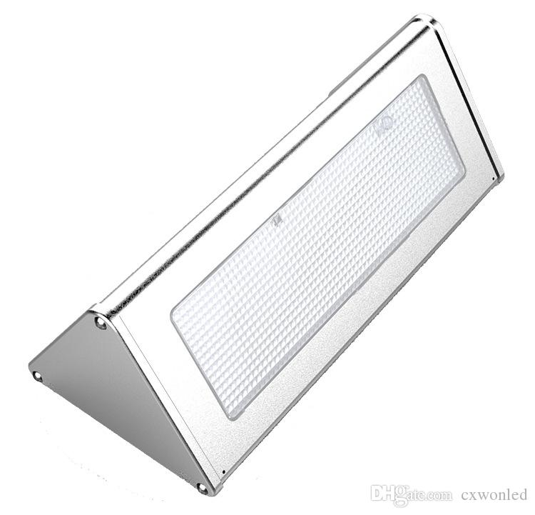 Aluminum Alloy Housing Motion Sensor Wall Light Pack Mount Outdoor Led Solar Light for Garden, Patio, Pathway