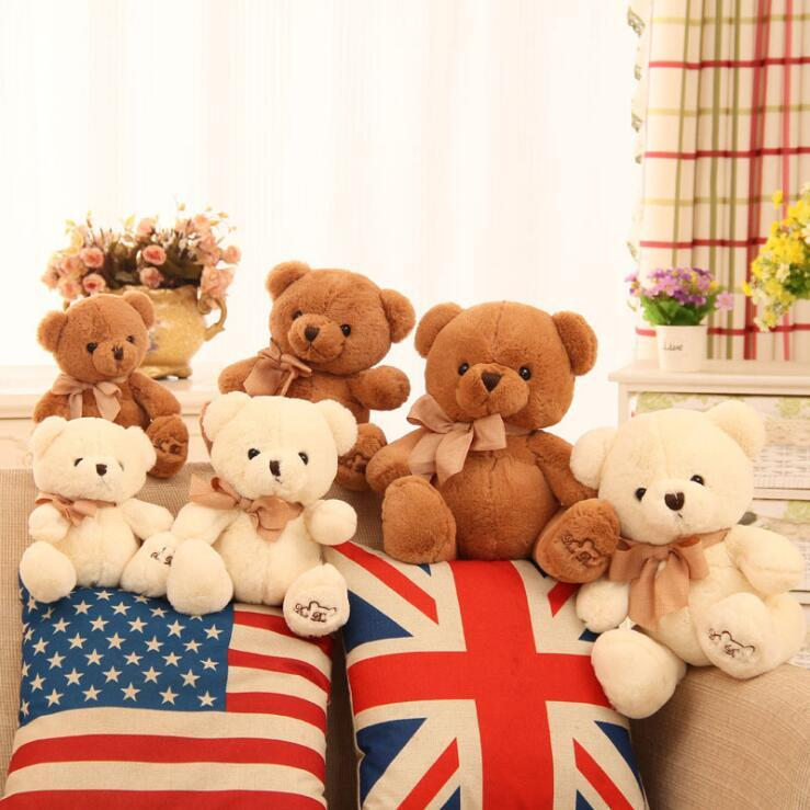 hot new 20cm 25cm 33cm Teddy Bear Lovers Big bear Arms Stuffed Animals Toys Plush Doll retails Valentine's gift new Year's gift