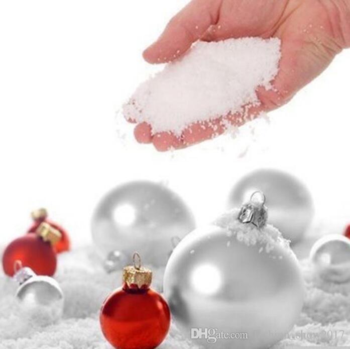 Magic Artificial Snow Instant Snow Fluffy Absorbant Snowflack Christmas Decoration Wedding Ornament Hot Sale Christmas Creative