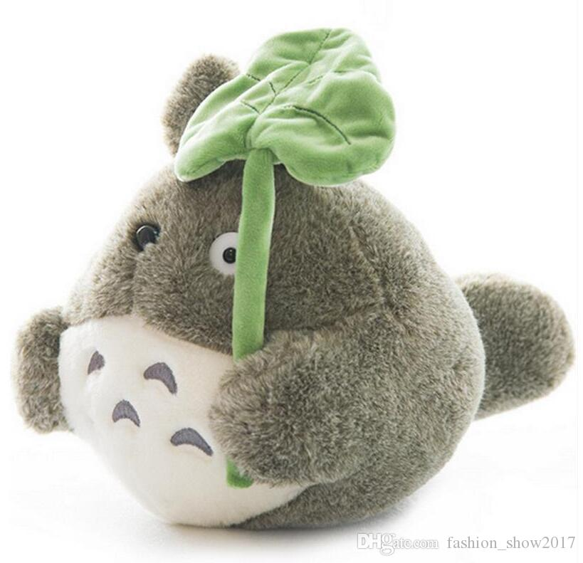 25cm Kawaii My Neighbor Totoro Plush Toy Cute Soft Doll Totoro with Lotus Leaf Kids Toys Cat